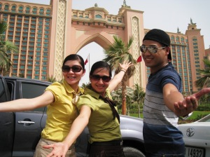 Kitt, Rodel & Arlene at Atlantis, Palm Jumeirah